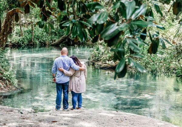 Florida Springs Marriage Proposal