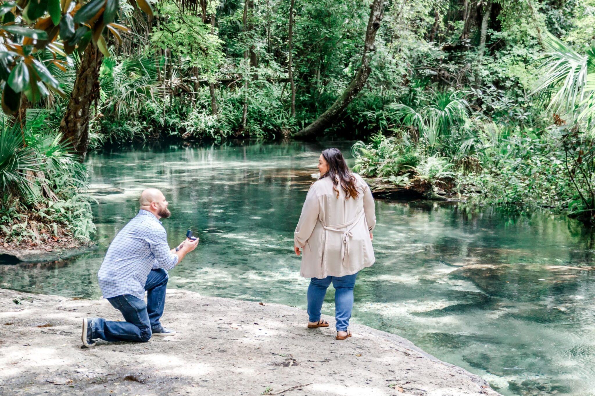 Florida springs wedding proposal at Kelly Park