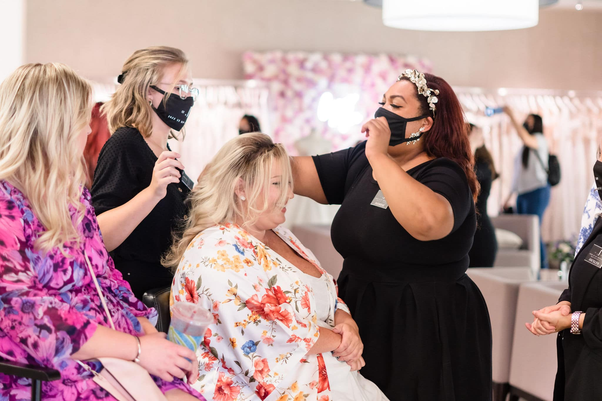 hair and makeup glam services for bride to be