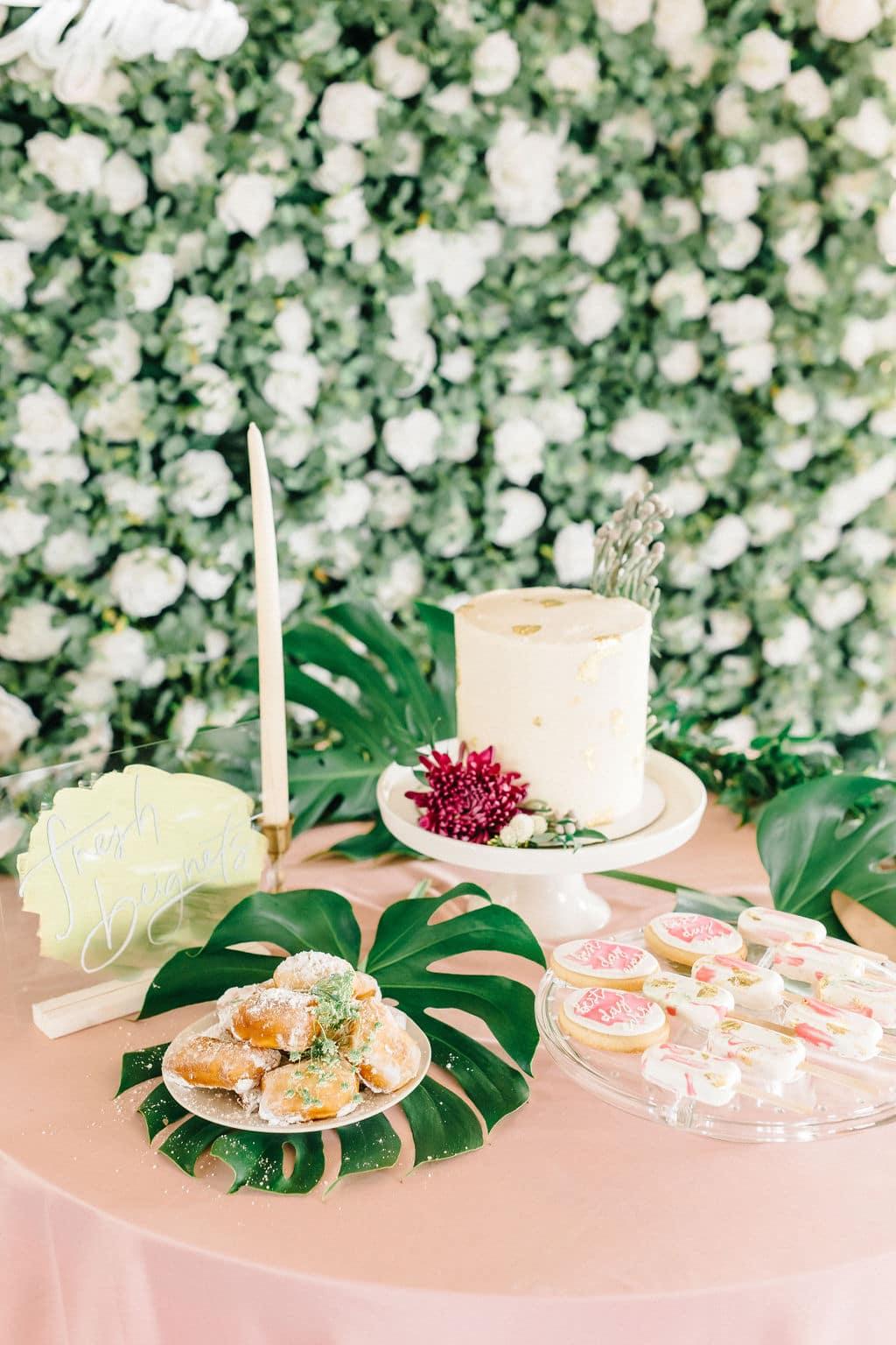 micro wedding Disney Princess and the Frog Wedding Theme dessert display