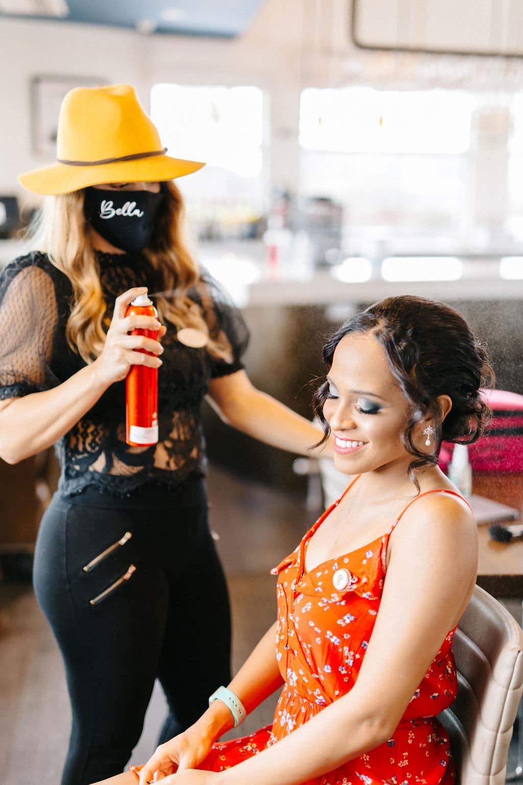 micro wedding Disney Princess and the Frog Wedding Theme hair and makeup