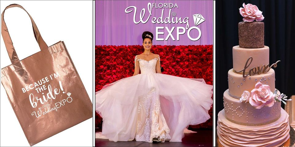 Florida Wedding Expo gift bag and cake