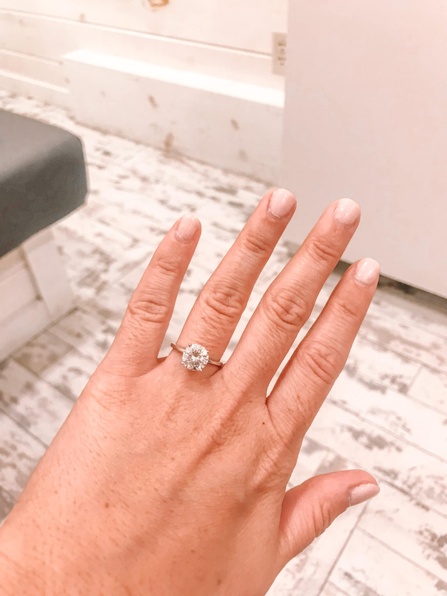 solitaire engagement ring from airbnb marriage proposal