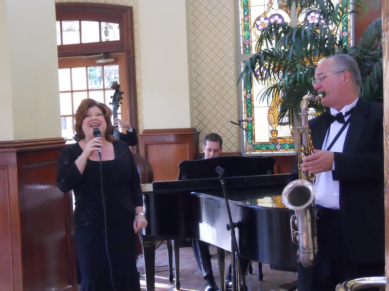 Music Remembrance band performing and singing at formal event