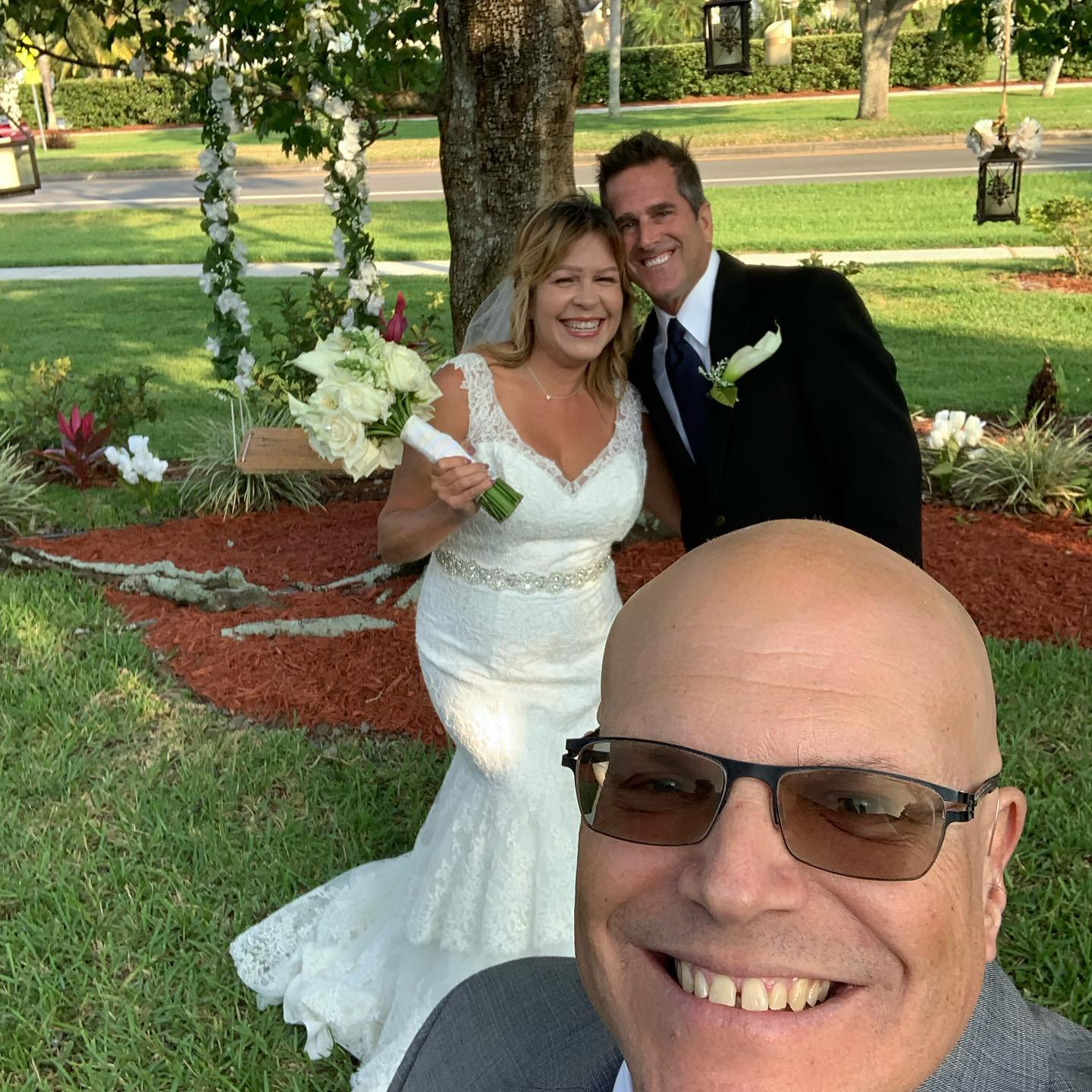 wedding officiant with couple planning a small wedding