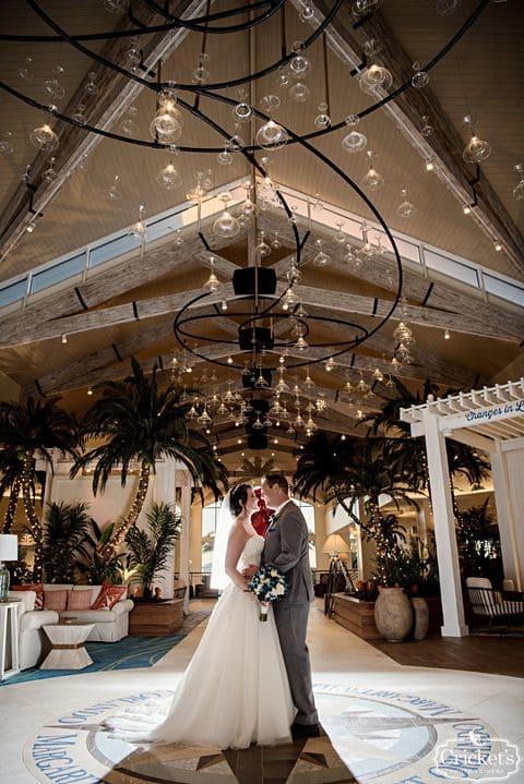 bride and groom first dance at margaritaville resort orlando