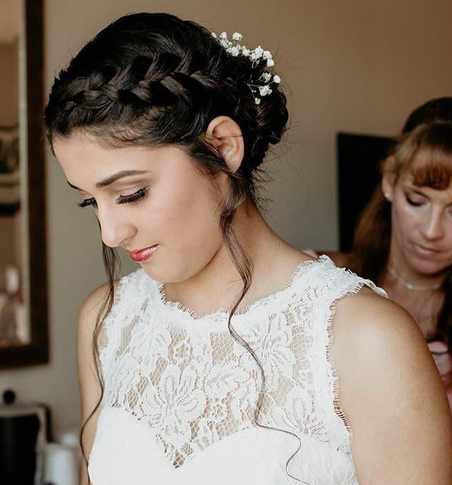 bride braided hair