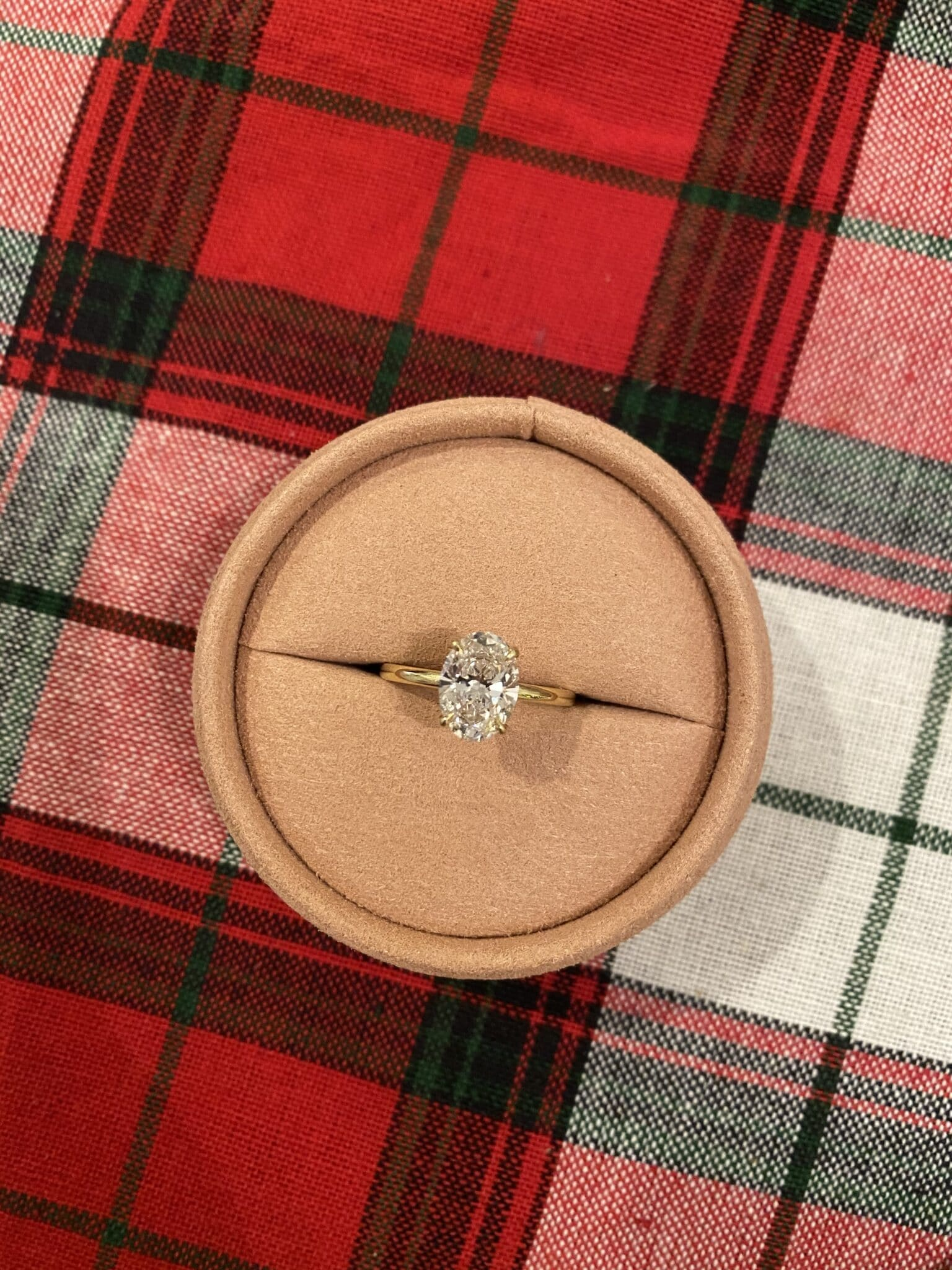Vrai over engagement ring