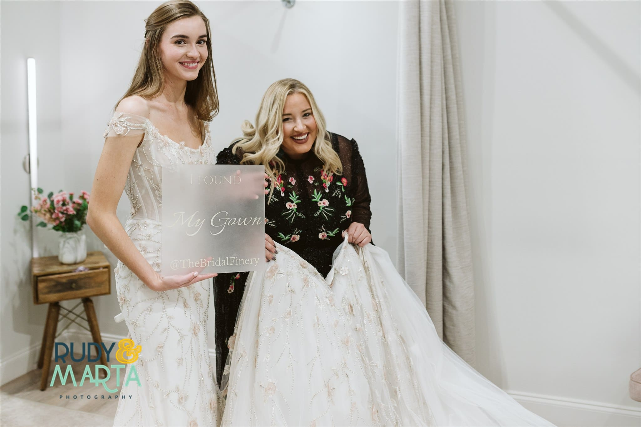 I found my gown at the bridal finery