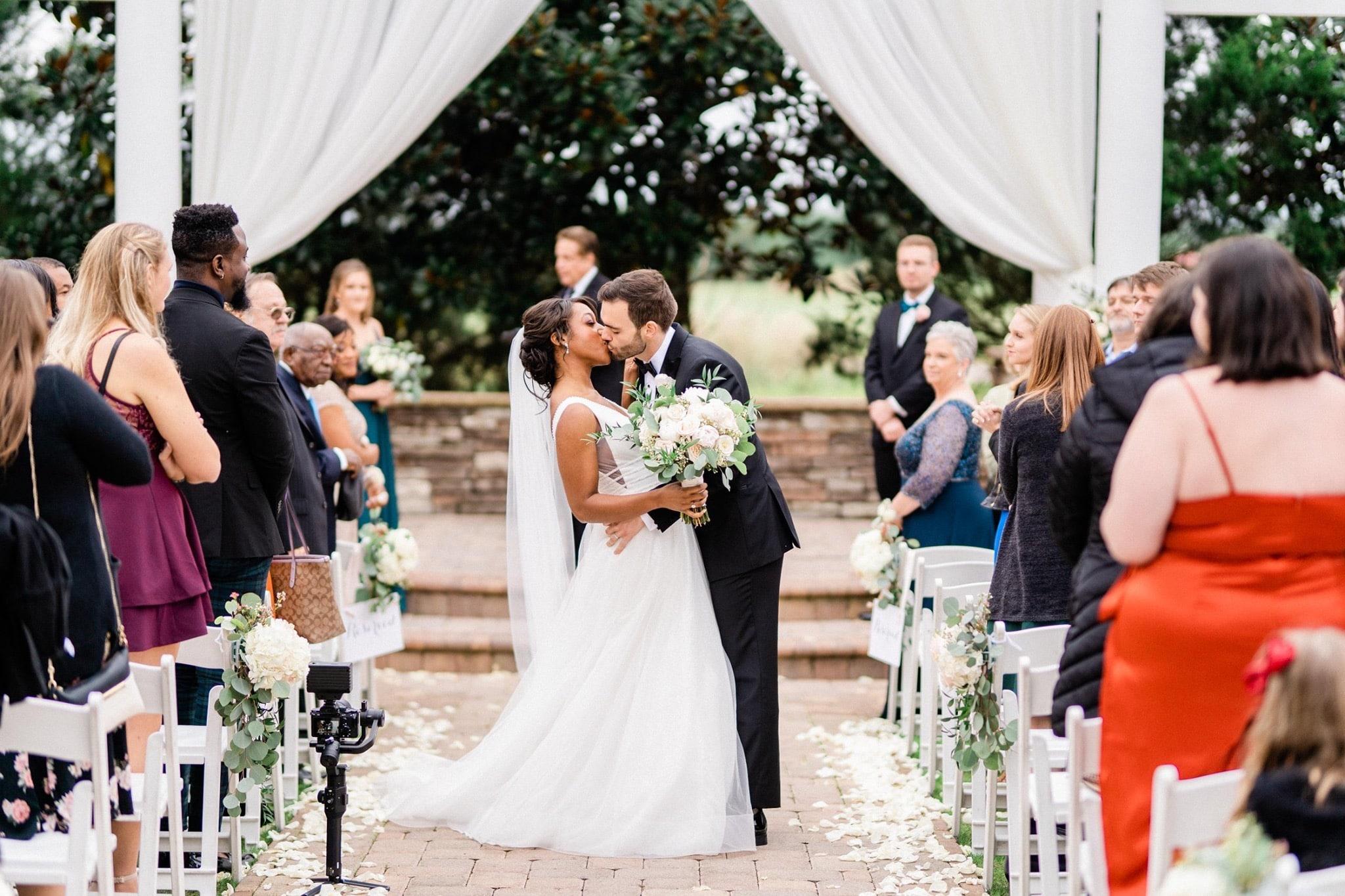 black bride and white groom interracial couple wedding ceremony florida