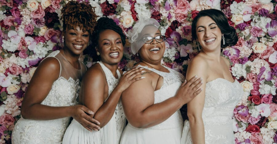 black brides celebrating diversity