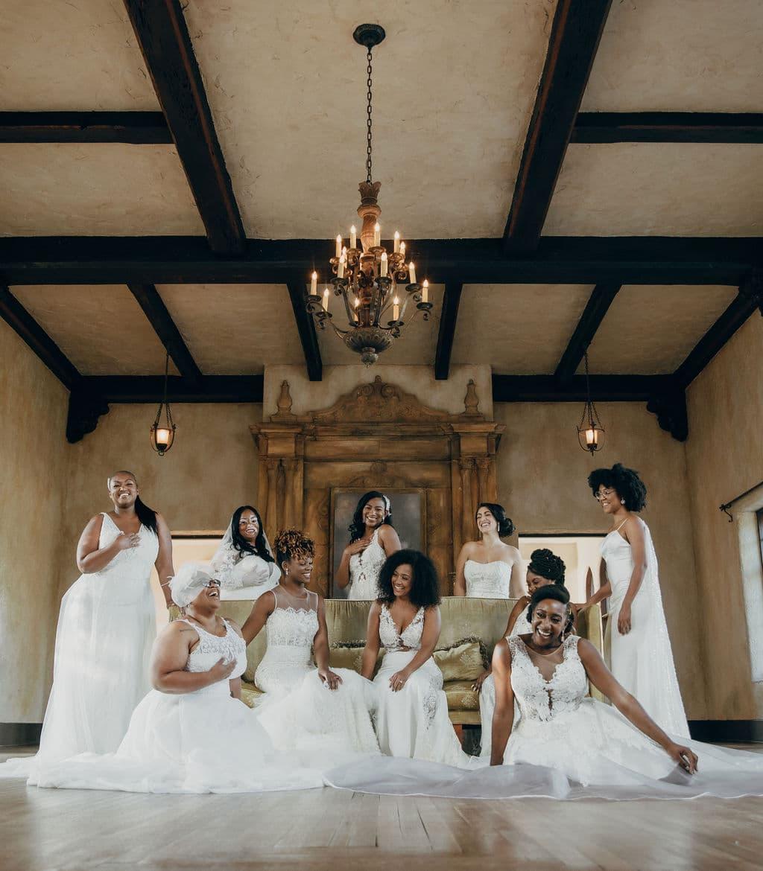 Photoshoot at howey mansion of Wedding Vendors that Celebrate Diversity