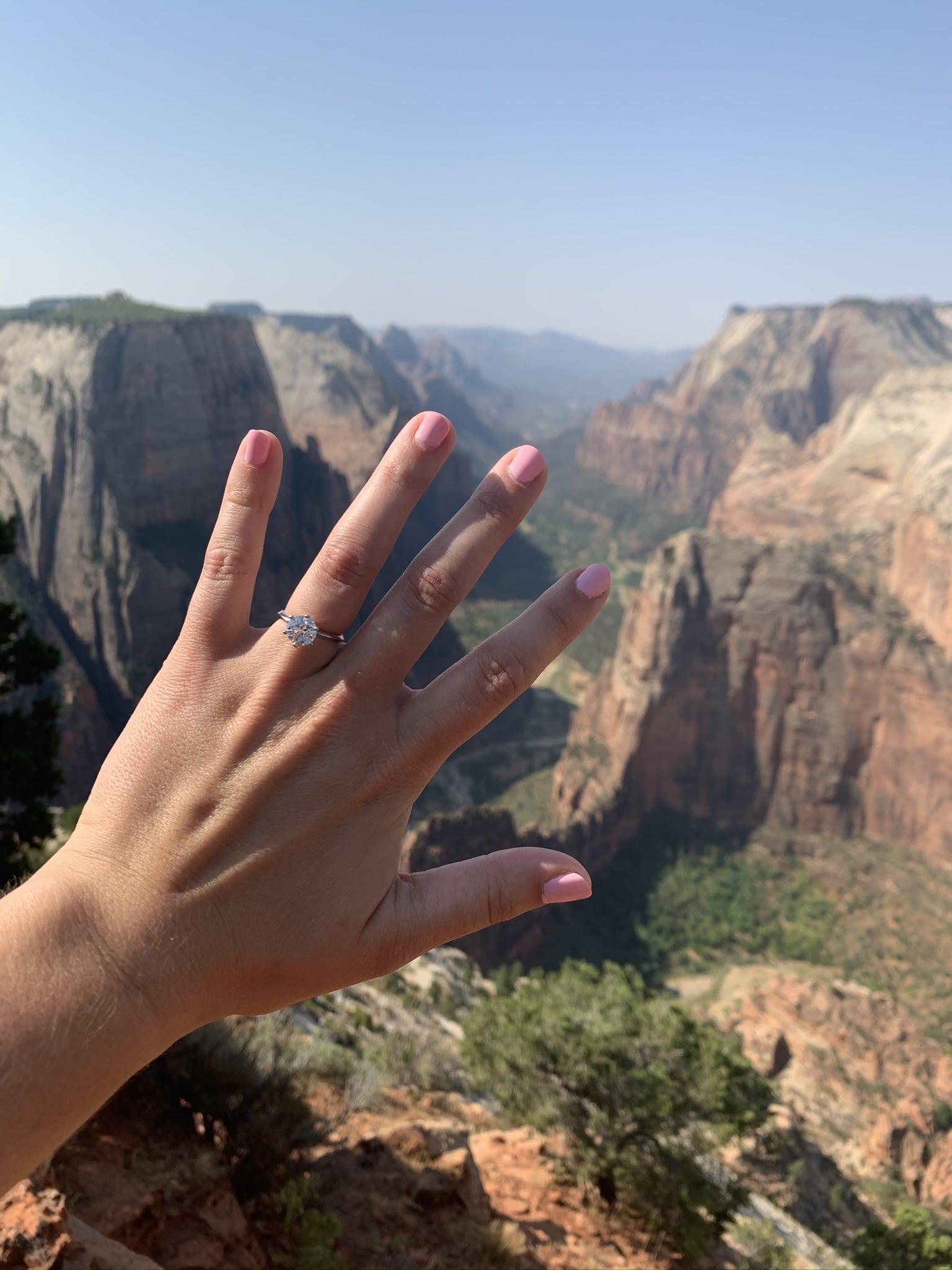 Zion National Park Marriage Proposal 14