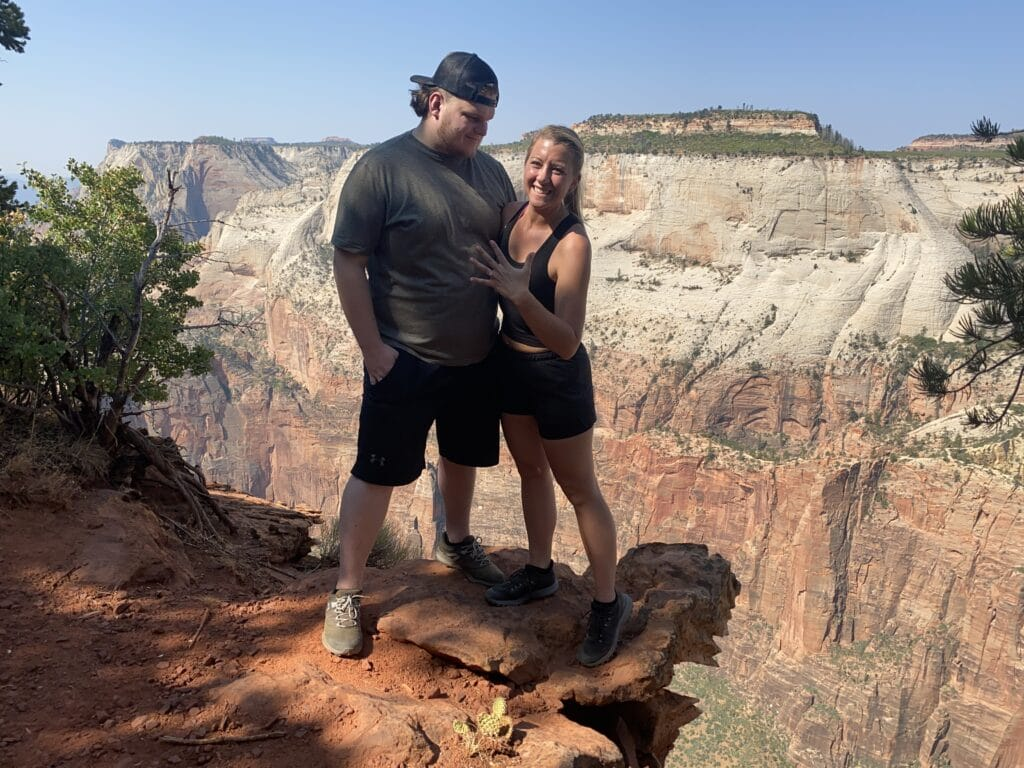Zion National Park Marriage Proposal 17