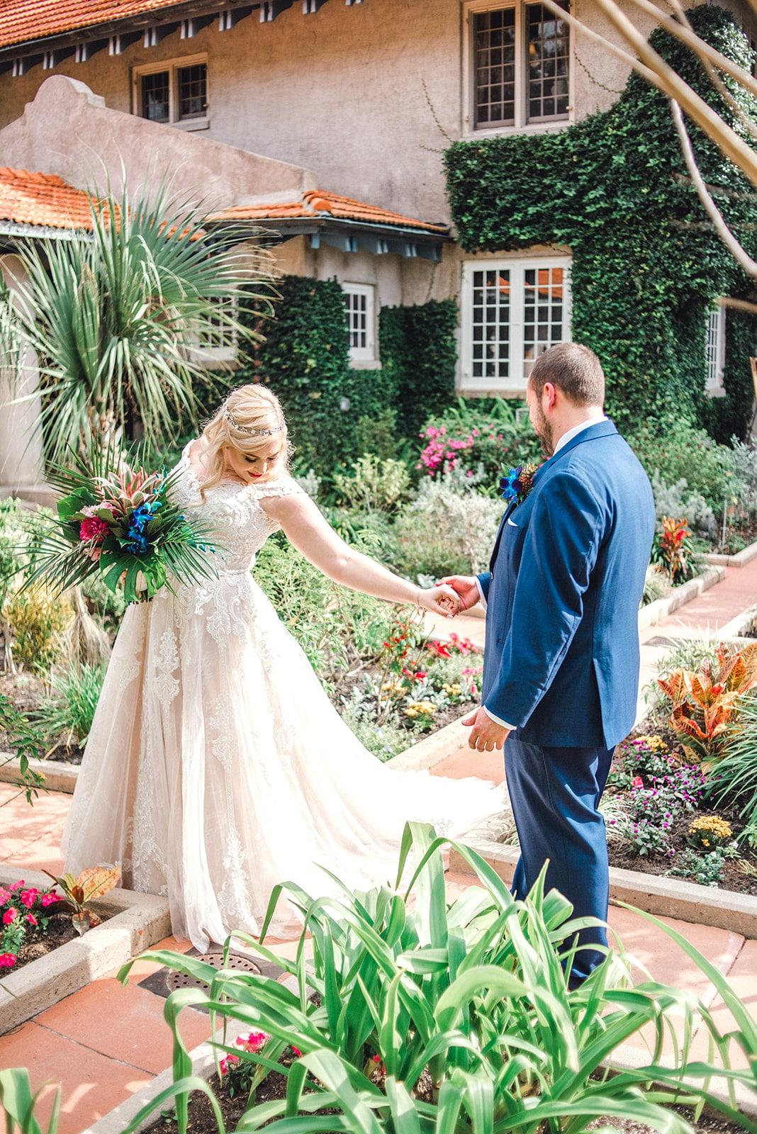 couple in garden, Sparkleigh Productions