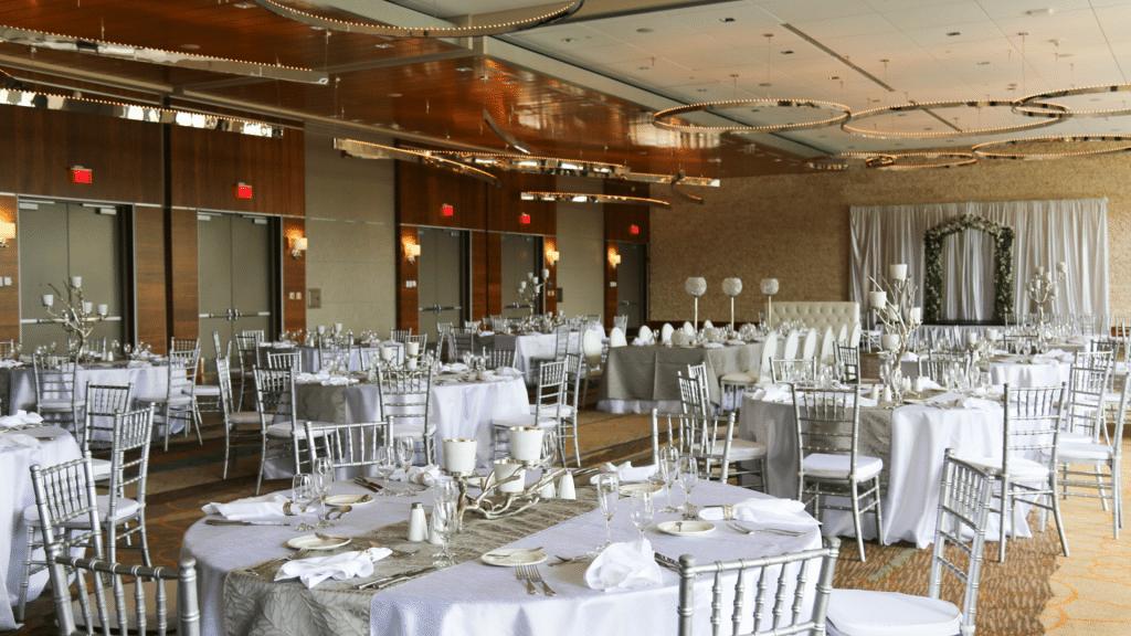 Orange County Convention Center setup for wedding reception