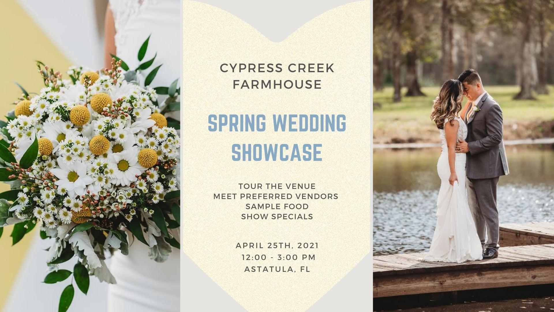 Spring Wedding Showcase at Cypress Creek Farmhouse