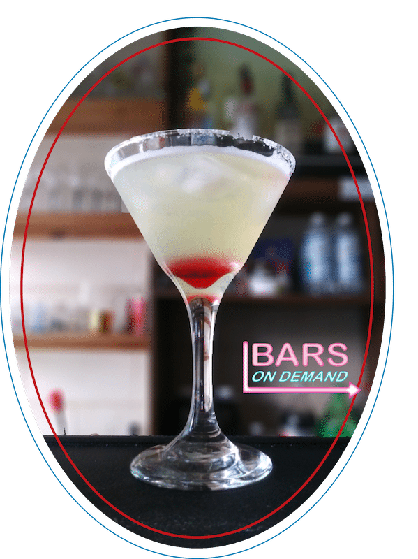 blood drop drink prepared by Bars on Demand