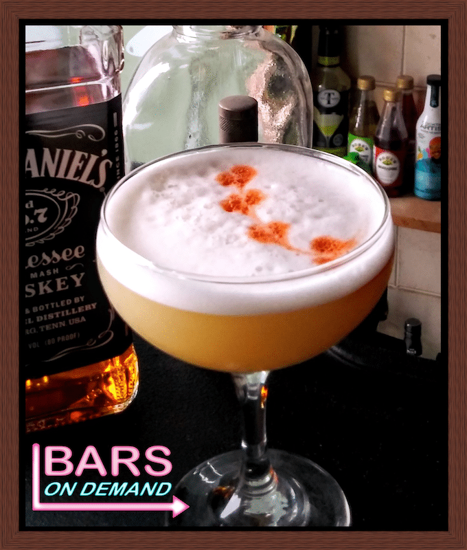 Whiskey sour from Bars on Demand