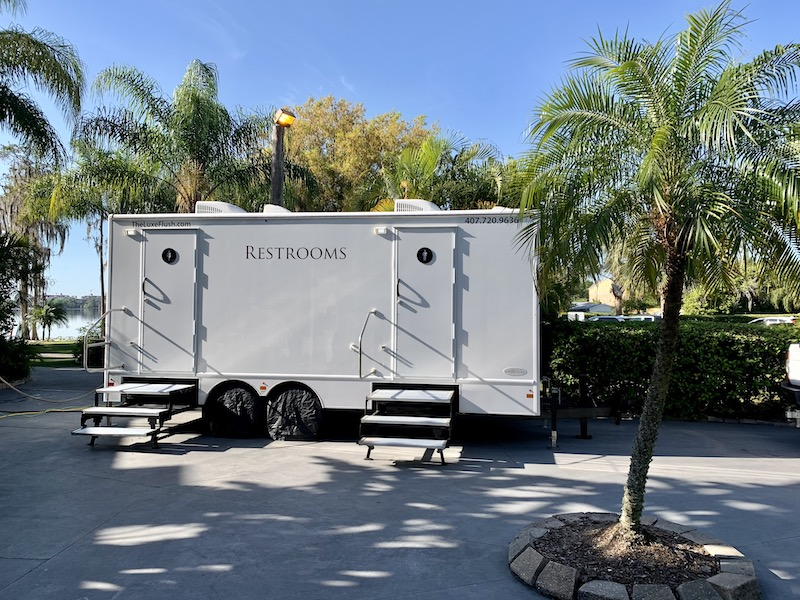 trailer for mens and womens restrooms from Luxe Flush