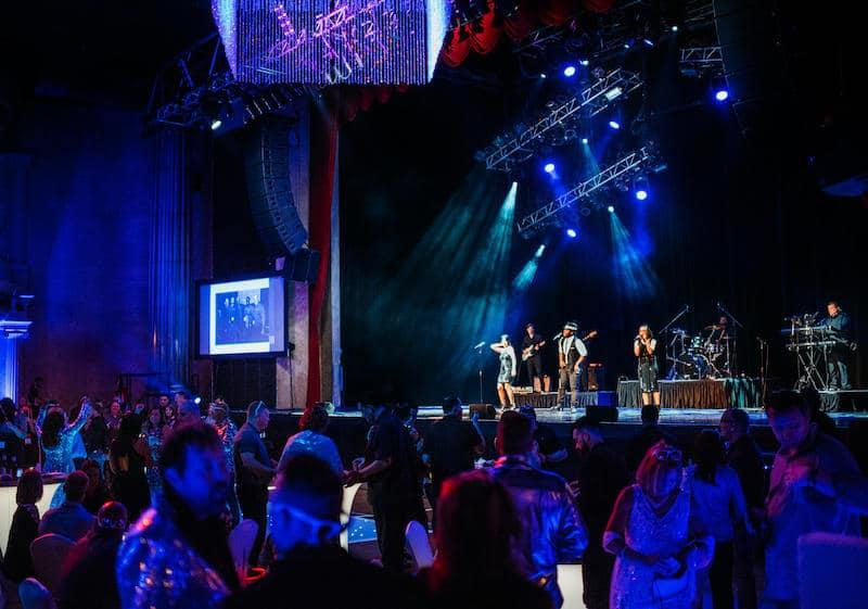 Paradigm Party Band performing at the Hard Rock