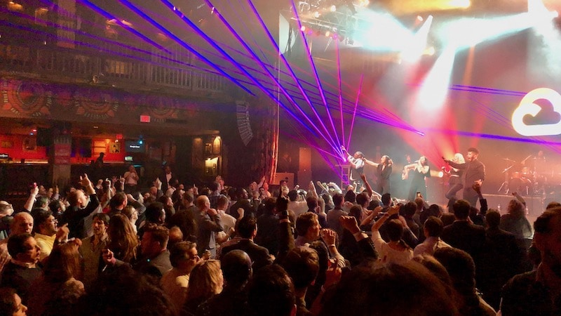 Paradigm Party Band performing at the House of Blues