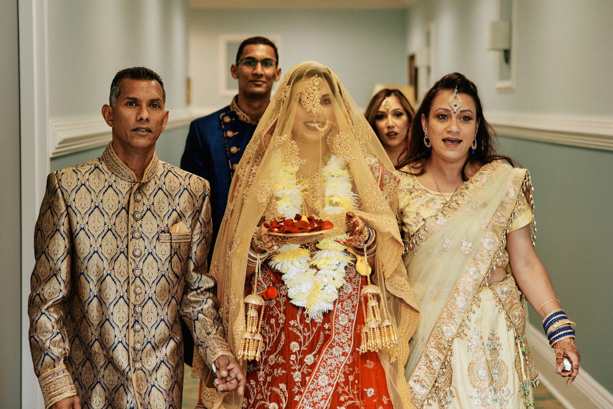 Indian wedding family