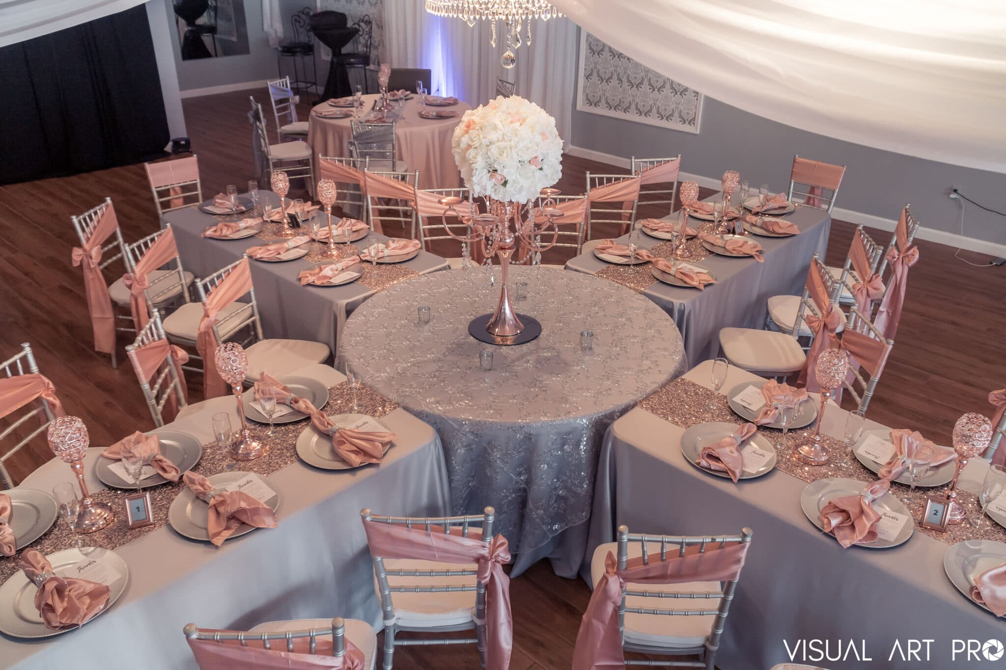 Amore Events Venue overhead table view