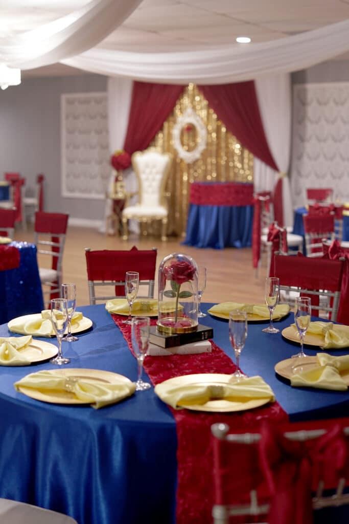 Beauty & the Beast theme table decor