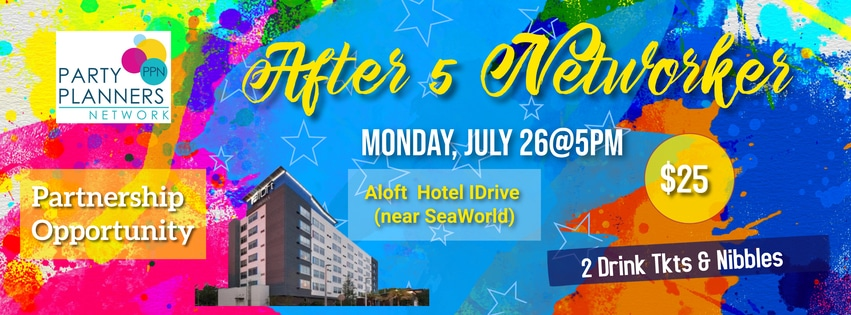 After 5 Networkers event on July 26 at Aloft hotel I-Drive