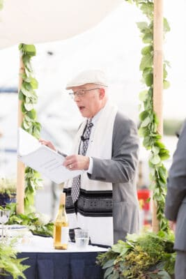Central Florida wedding rabbi canting