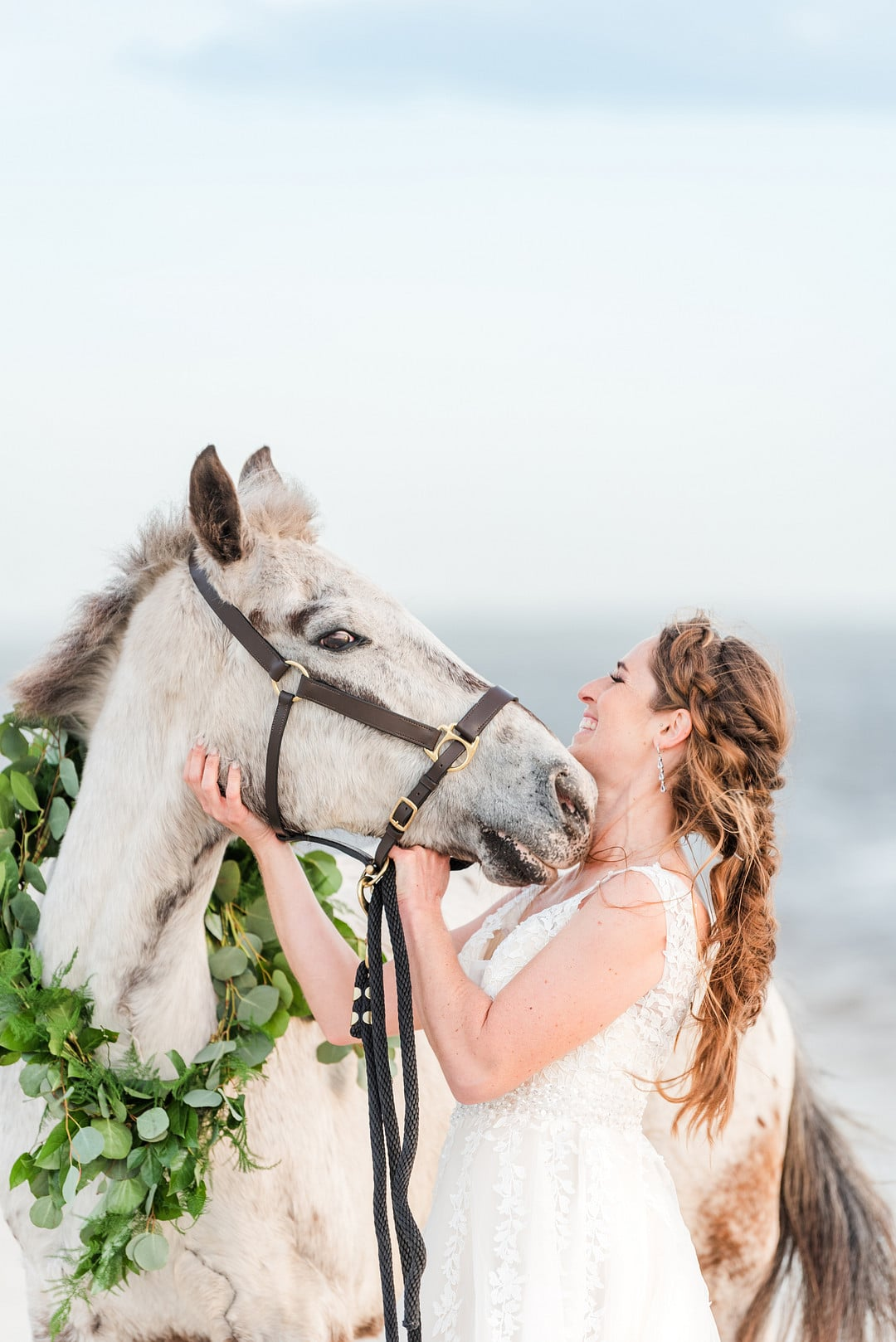 Romantic, Spring Styled Wedding with Horses on the Beach_Christine Austin Photography_©christineaustinphotography_2021_RomanticBeachStyledShoot_Horses_80_low