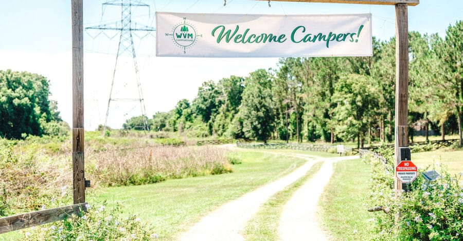 Summer camp welcome banner