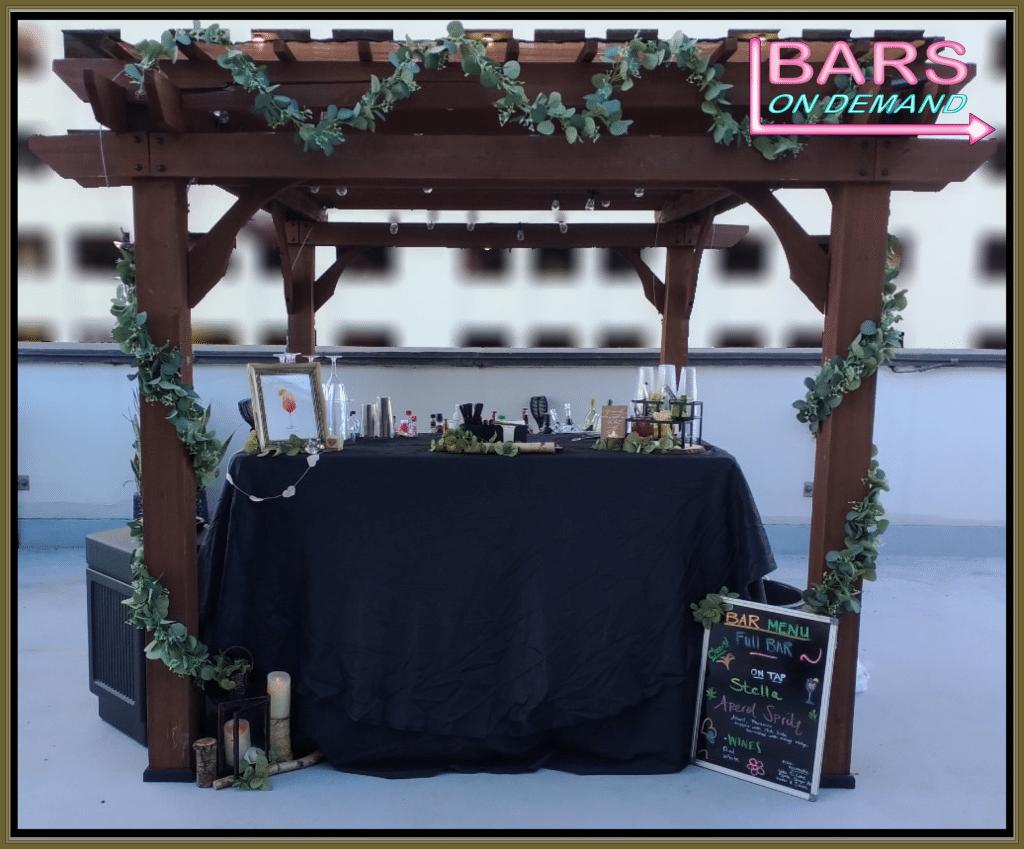 Bars on Demand outdoor bar set-up