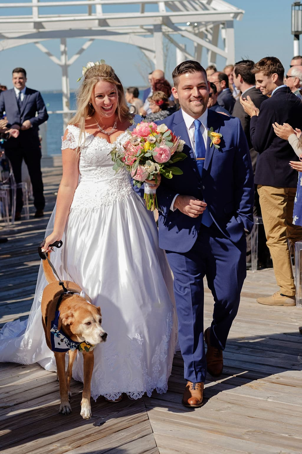 insider tips from married wedding vendors, include your pet when walking down the aisle